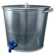 Бак оцинкованный для воды 32 л с краном
